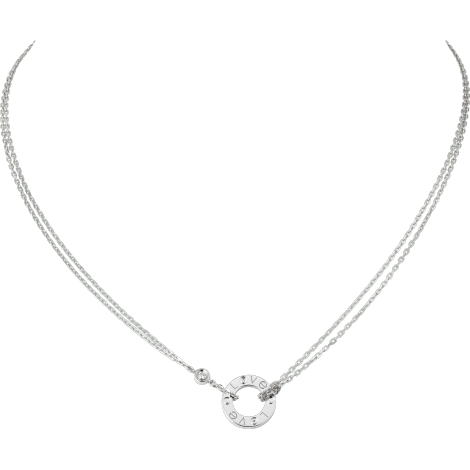 LOVE项链,镶嵌2颗钻石