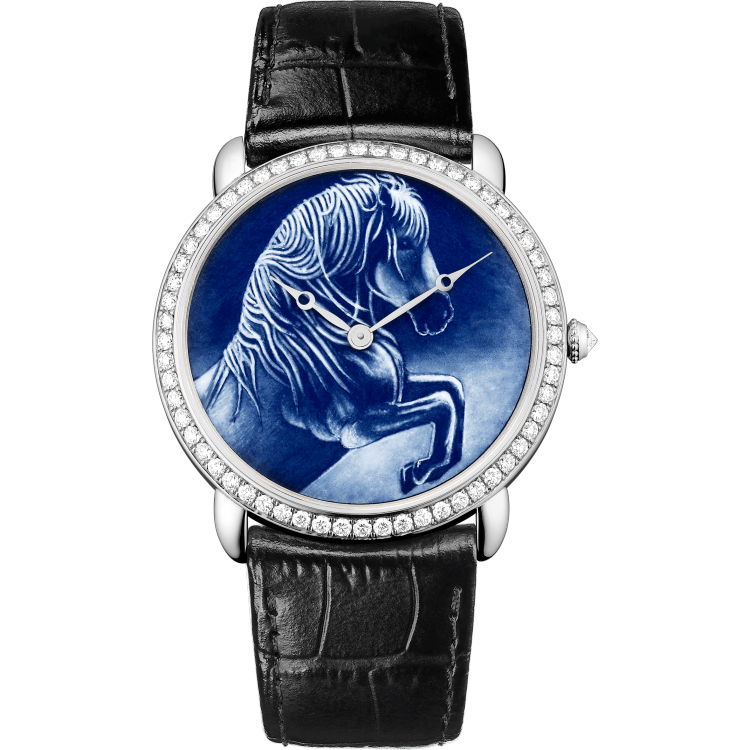Cartier d'Art Ronde Louis Cartier腕表 加大号 18K镀铑白金 手动上链