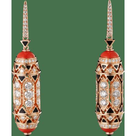 高级珠宝耳环 18K玫瑰金