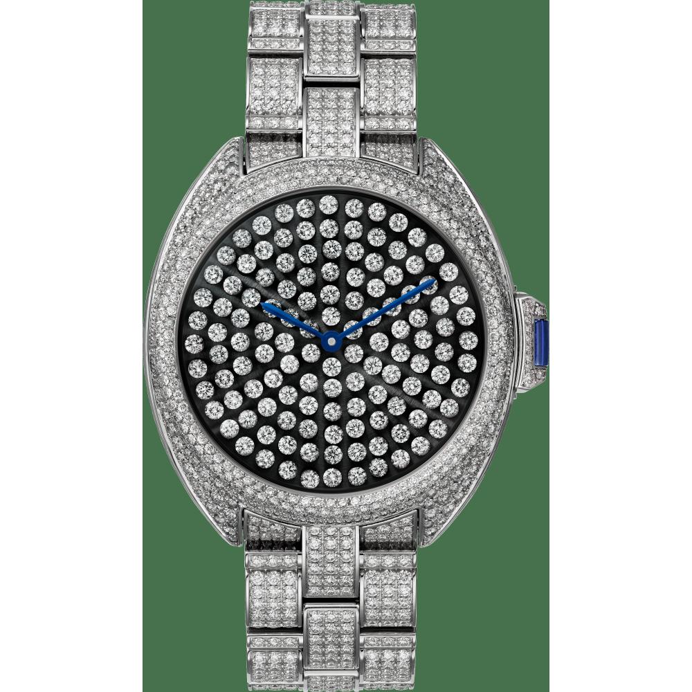 Clé de Cartier卡地亚钥匙腕表 40毫米 18K镀铑白金 自动上链