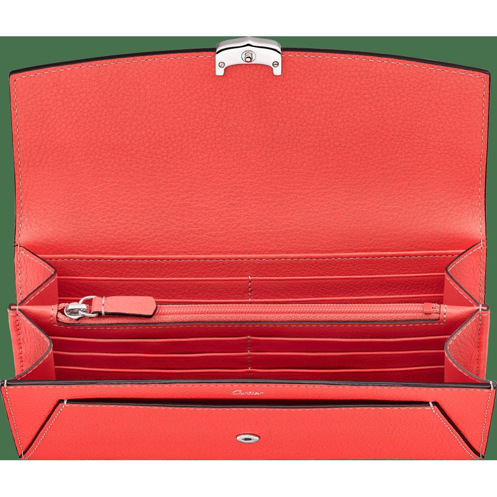 小皮具C de Cartier通用型皮夹 粉色 Taurillon皮革
