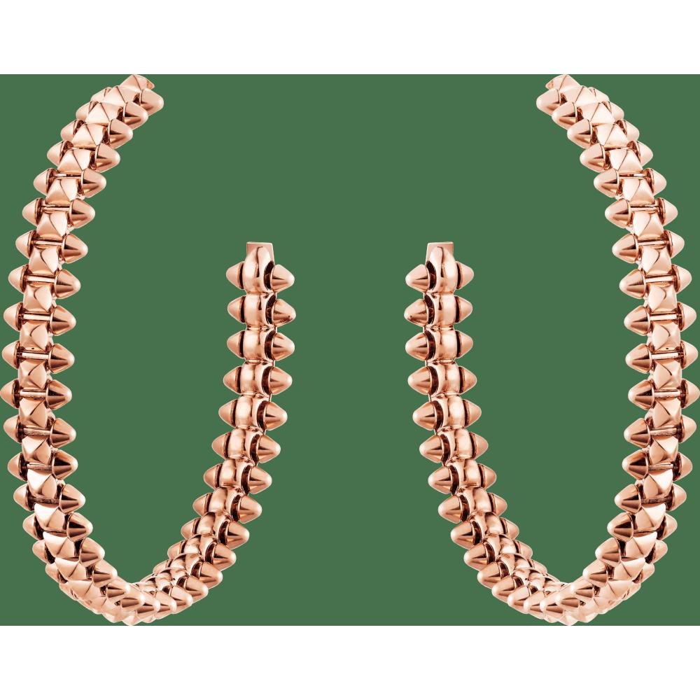 Clash de Cartier耳环,小号款 18K玫瑰金