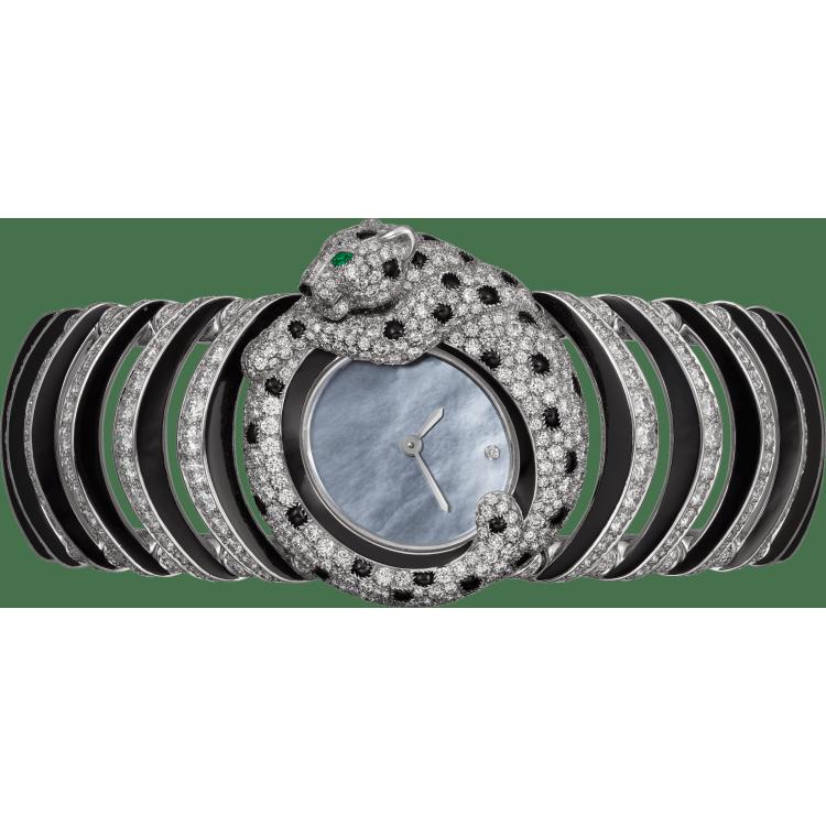 高级珠宝Tiny Panthère微型猎豹装饰腕表  18K白金
