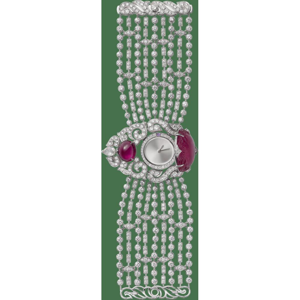 高级珠宝神秘小时腕表  18K白金