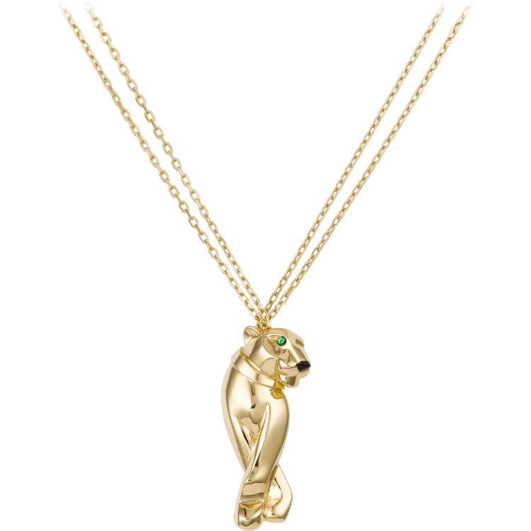 Panthère de Cartier卡地亚猎豹项链 18K黄金