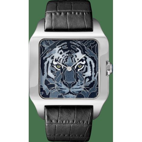 Santos-Dumont珐琅老虎装饰腕表