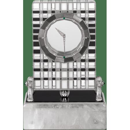 高级珠宝神秘座钟 18K白金