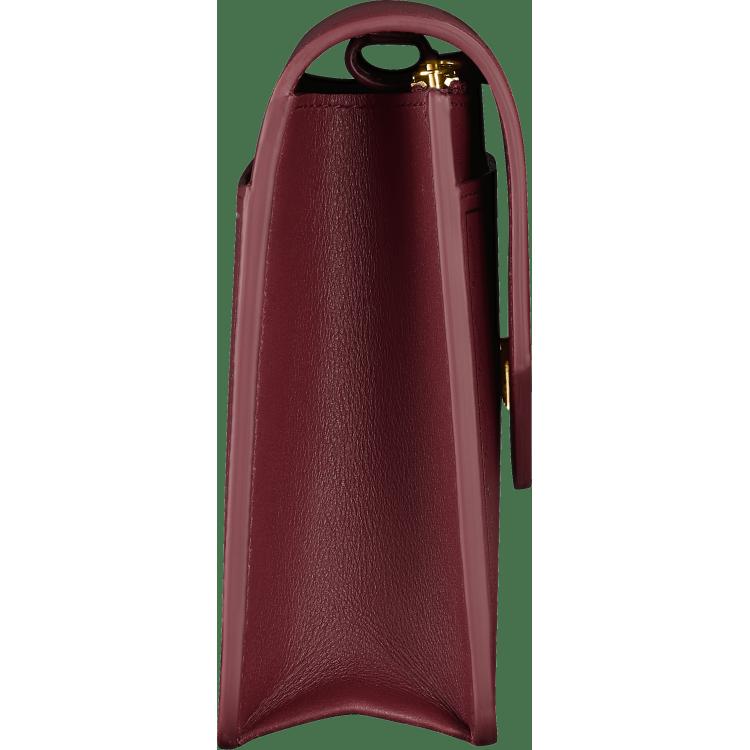 Guirlande de Cartier皮夹式手袋 酒红色 小牛皮