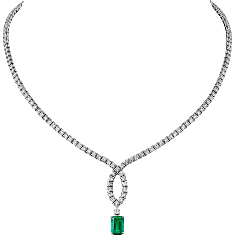 高级珠宝项链 18K白金