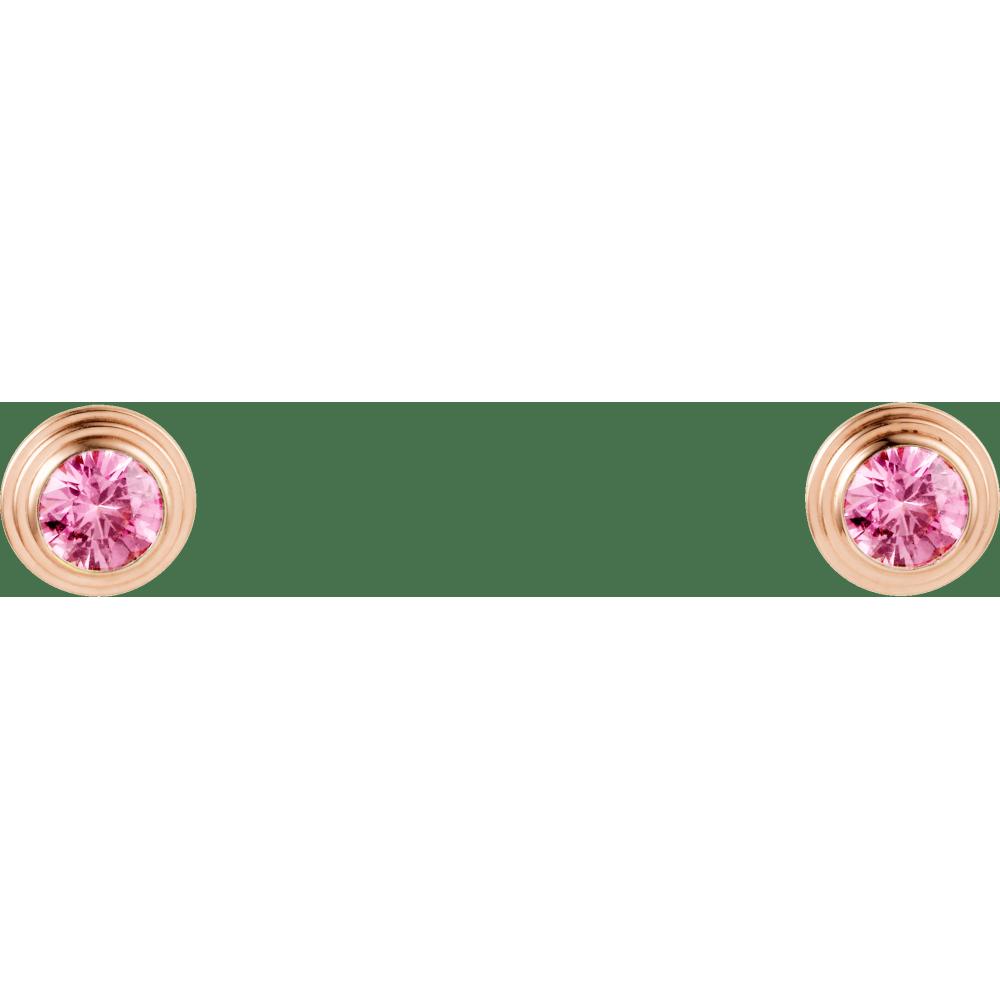 Saphirs Légers de Cartier耳环 18K玫瑰金