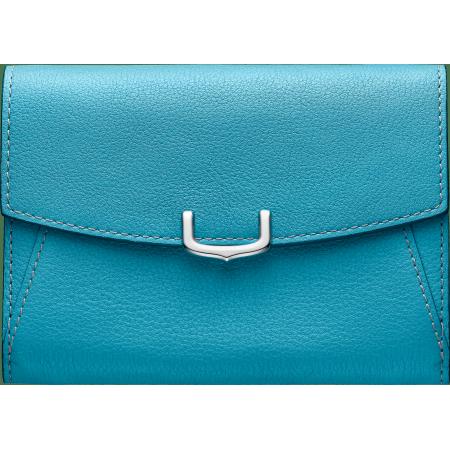 C de Cartier系列小皮具,短夹 蓝色 Taurillon皮革