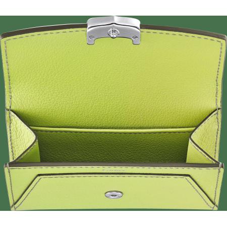 C de Cartier系列小皮具,名片夹 绿色 Taurillon皮革