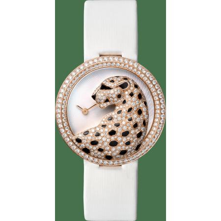 Panthère猎豹装饰珠宝腕表 38毫米 18K玫瑰金 石英