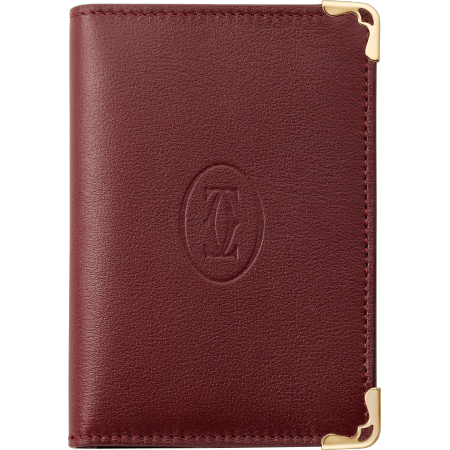 Must de Cartier信用卡/名片夹 酒红色 小牛皮