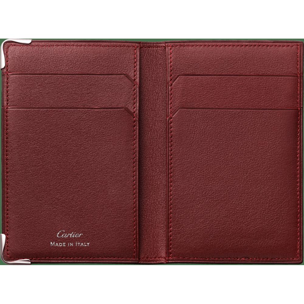 Must de Cartier 4信用卡皮夹 黑色 小牛皮