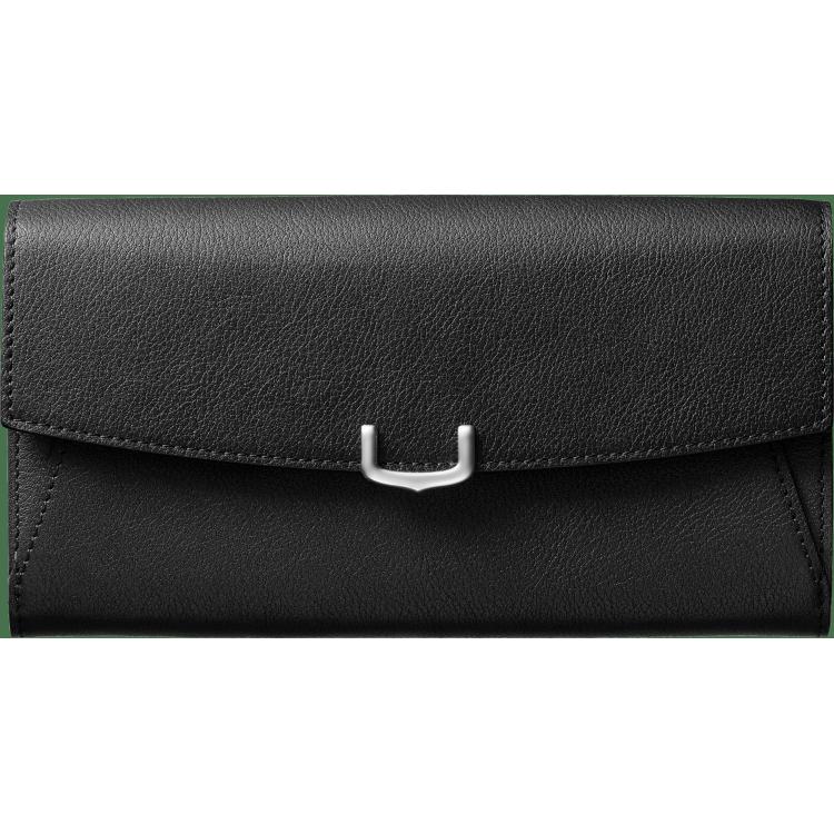小皮具C de Cartier通用型皮夹 黑色 Taurillon皮革