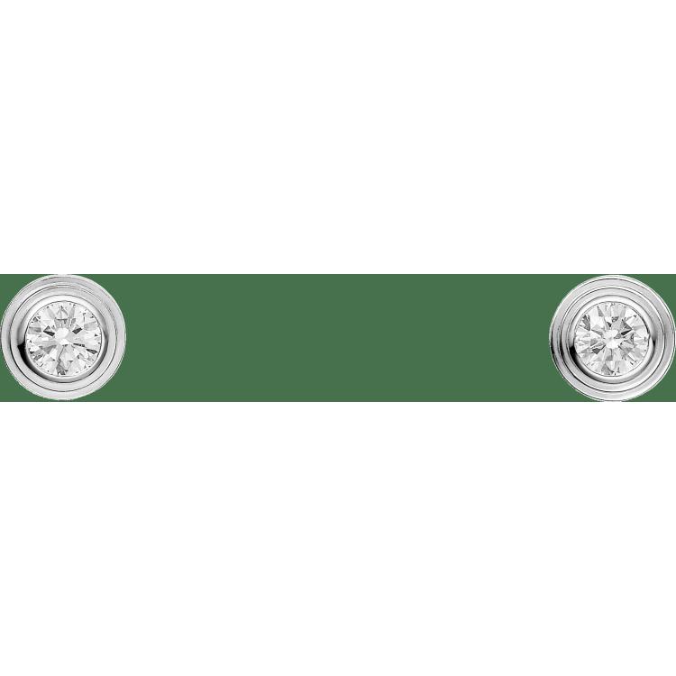 Diamants Légers 耳环,超小号款 18K白金