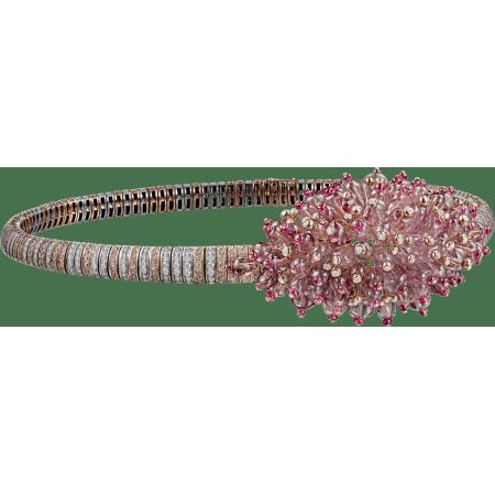 高级珠宝项链 18K白金,18K玫瑰金