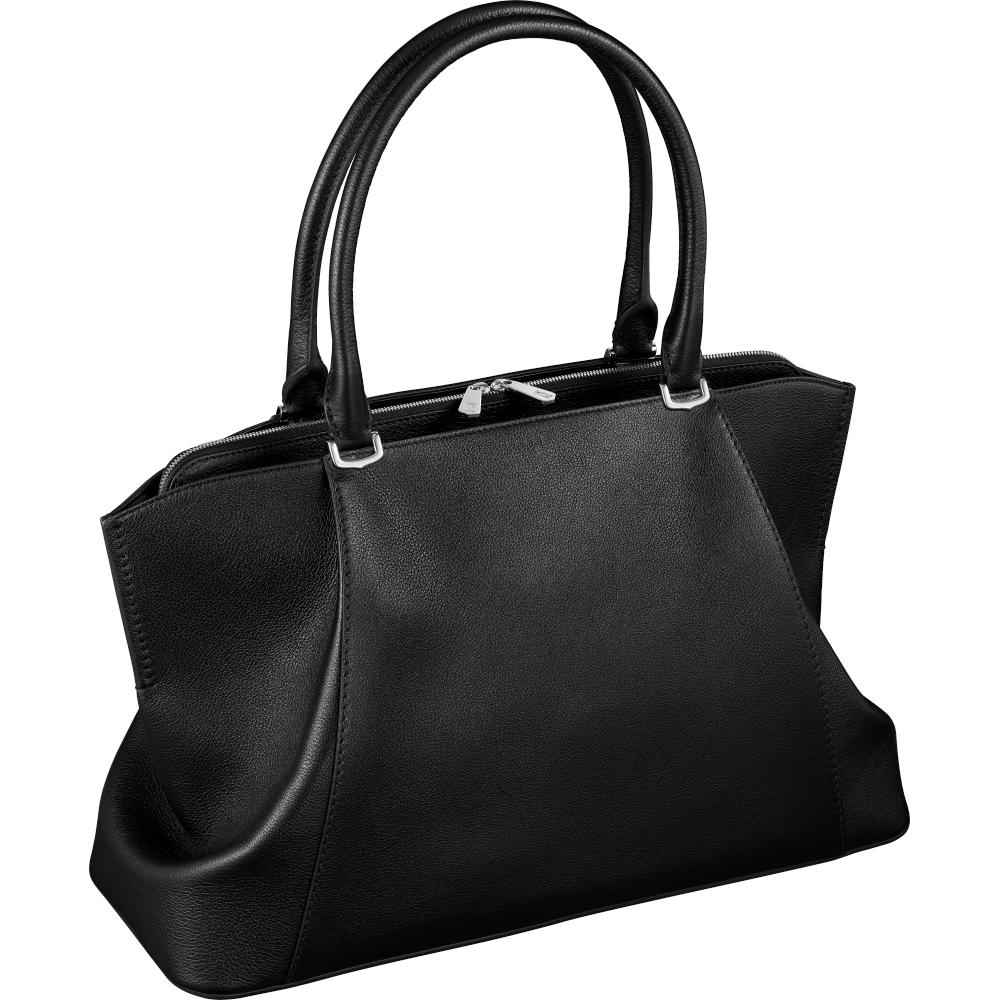 C de Cartier中号手袋 黑色 Taurillon皮革