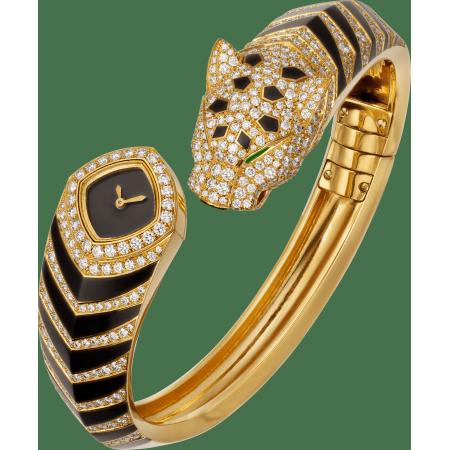 Panthère猎豹装饰珠宝腕表 迷你 18K黄金 石英