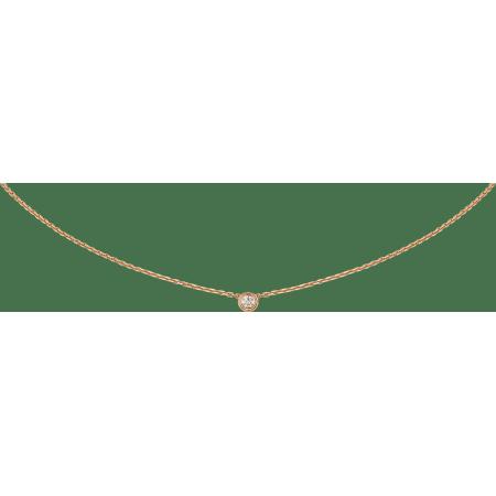 Diamants Légers 项链,超小号款 18K玫瑰金