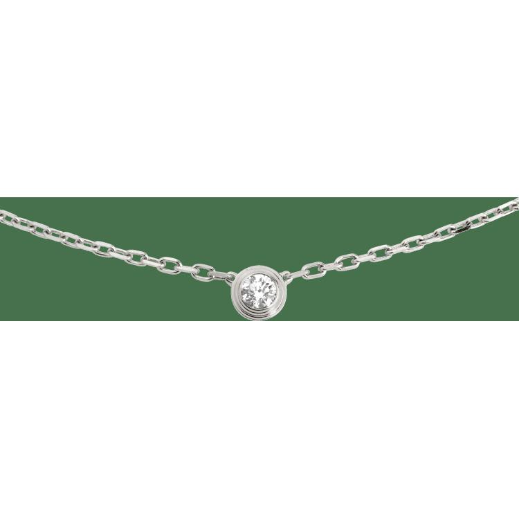 Diamants légers 项链,小号款 18K白金