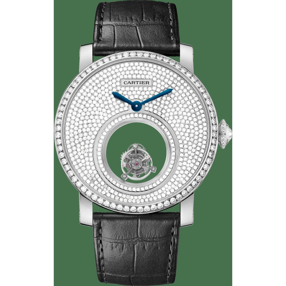 Rotonde de Cartier双重神秘陀飞轮腕表 45毫米 铂金 手动上链