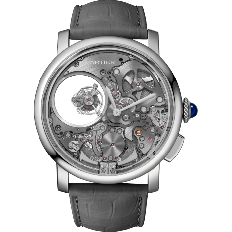 Rotonde de Cartier双重神秘陀飞轮三问腕表