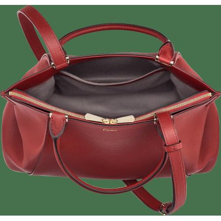 C de Cartier小号手袋 红色 Taurillon皮革