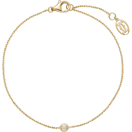 Diamants Légers 手链,小号款 18K黄金