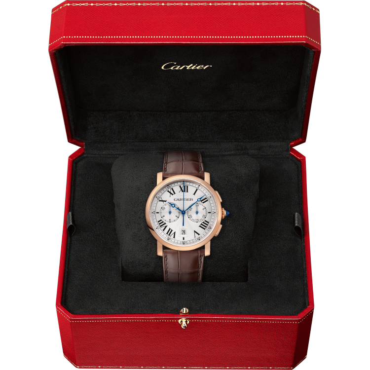 Rotonde de Cartier计时腕表 40毫米 18K玫瑰金 自动上链