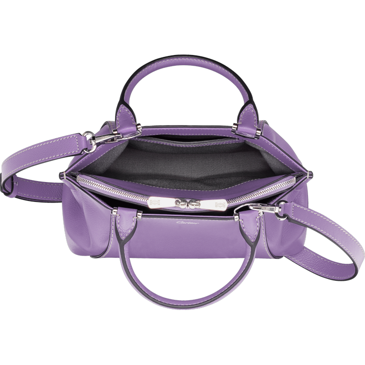C de Cartier迷你手袋 紫色 Taurillon皮革