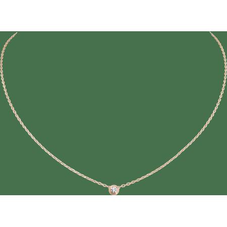 Diamants légers 项链,小号款 18K玫瑰金