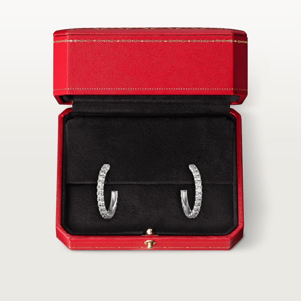 Etincelle de Cartier耳环,小号款 18K白金