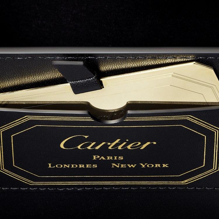 Guirlande de Cartier迷你手袋,带顶部提手 米色 小牛皮