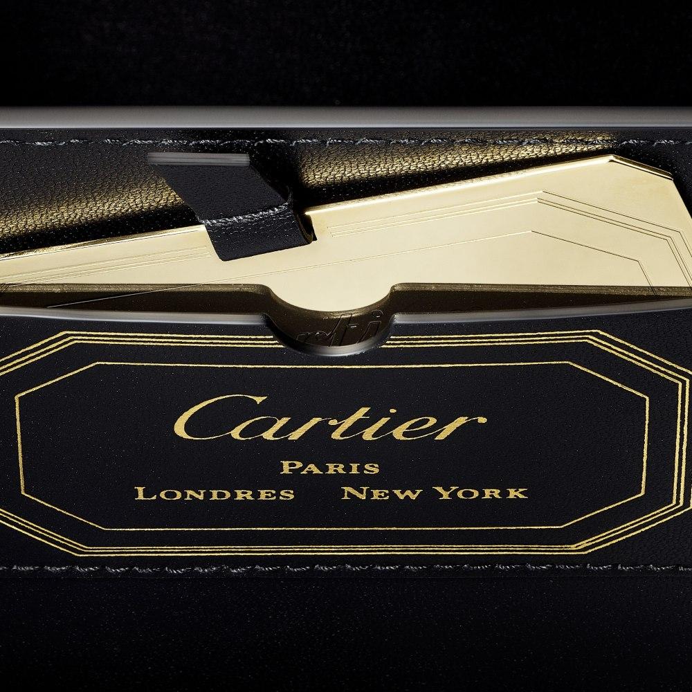 Guirlande de Cartier迷你手袋,带顶部提手 酒红色 小牛皮